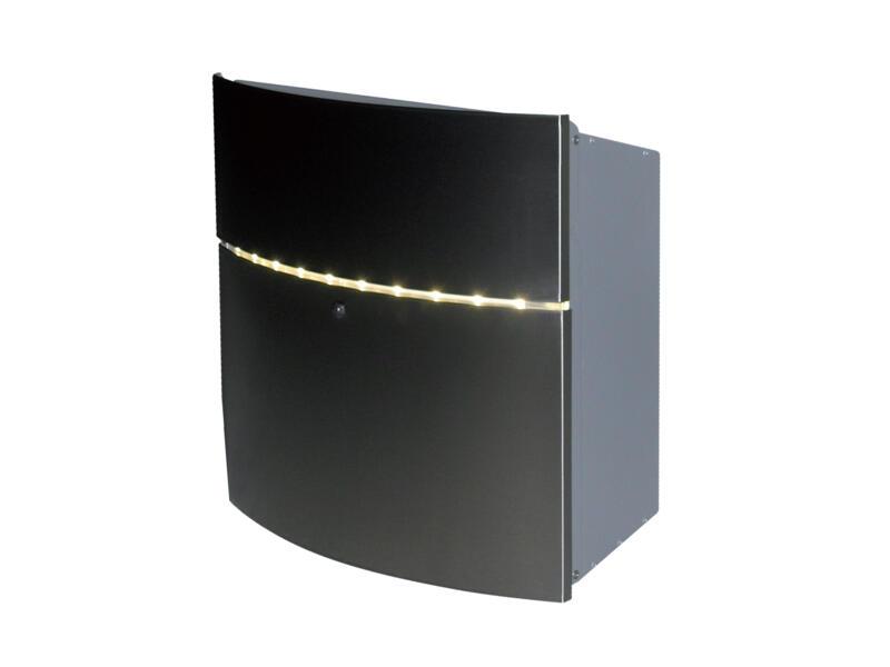 VASP Halmstad brievenbus LED inox