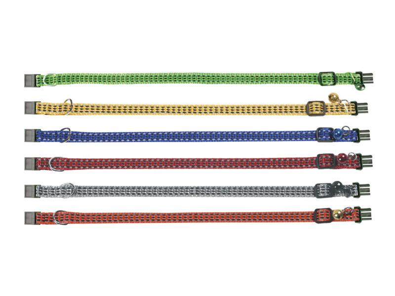 Flamingo Halsband voor katten Bright 25/35cm 10mm beschikbaar in 6 kleuren