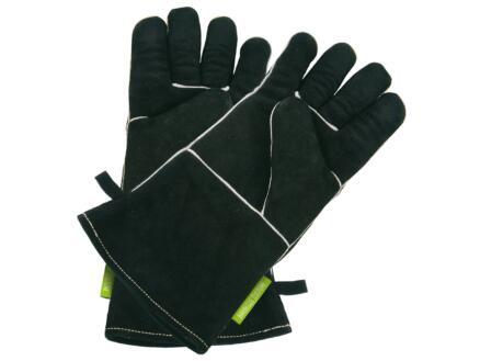 Handschoenen barbecue L leer zwart