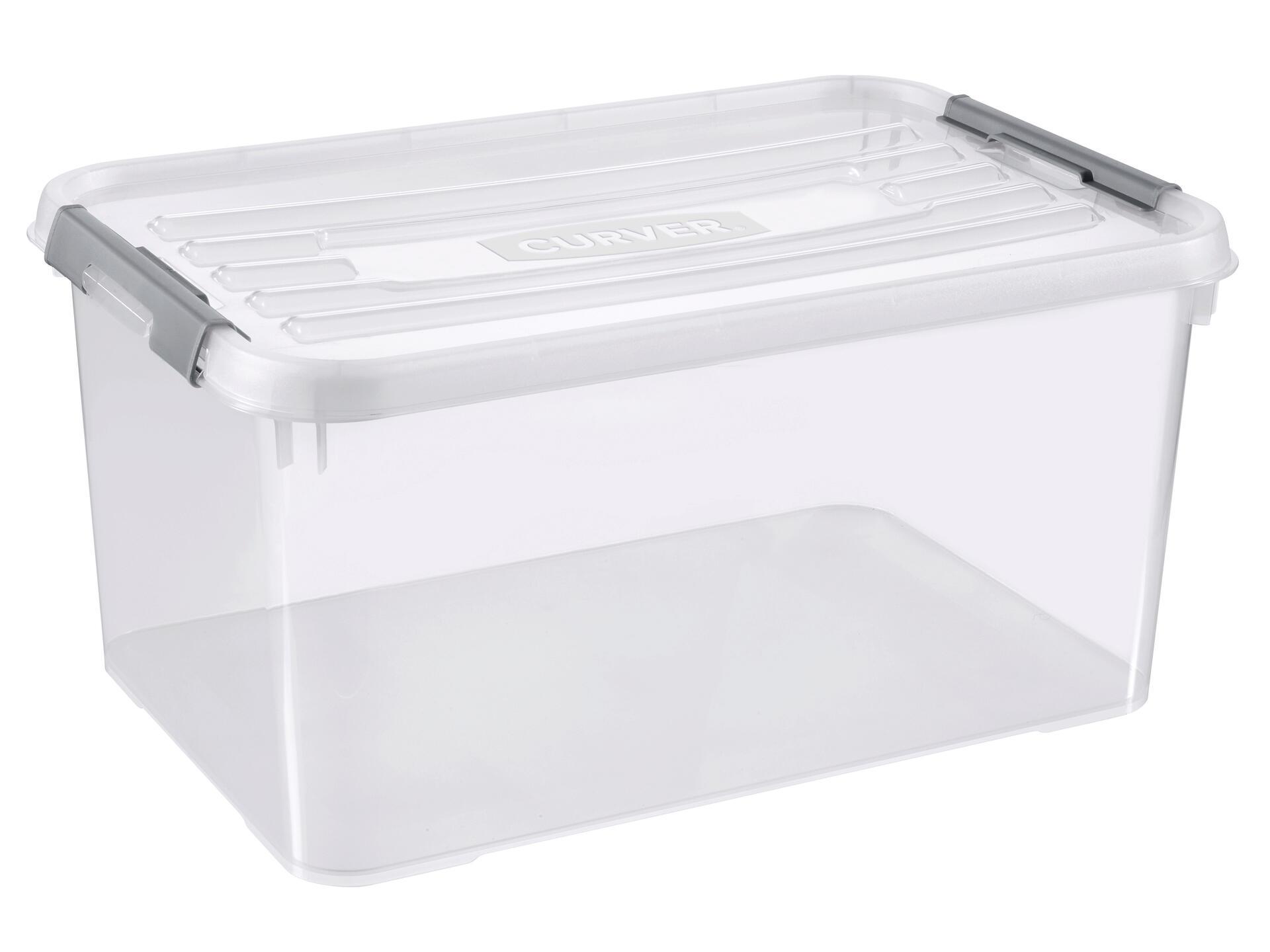 Curver Handy+ boîte de rangement 50l transparent | Hubo