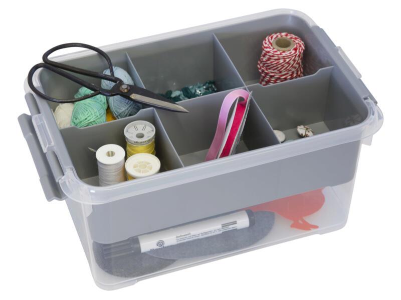 Handy+ insert pour boîte de rangement 4l/6l/9l gris