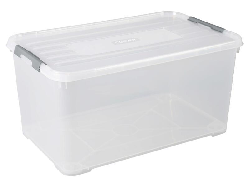 Curver Handy+ opbergbox 115l transparant