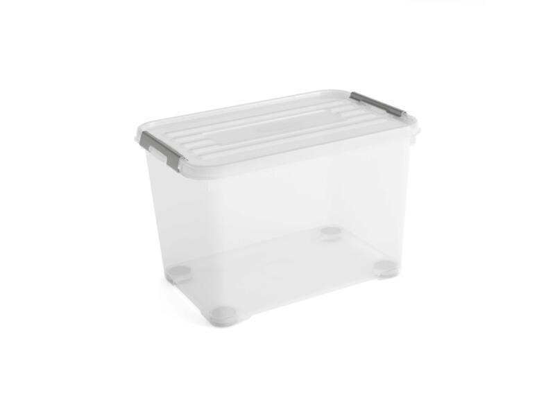 Curver Handy+ opbergbox 65l transparant