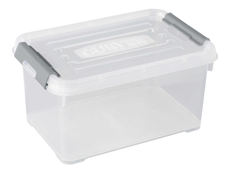 Curver Handy+ opbergbox 6l transparant