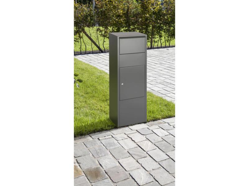 Practo Garden Hannover boîte à colis acier gris mat