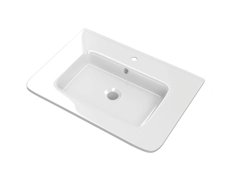Happy lavabo encastrable 60cm porcelaine