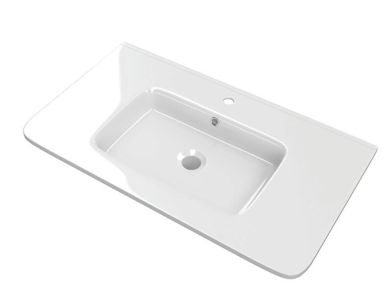 Happy lavabo encastrable 80cm porcelaine