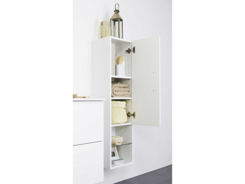 Happy meuble colonne avec niche 30cm blanc