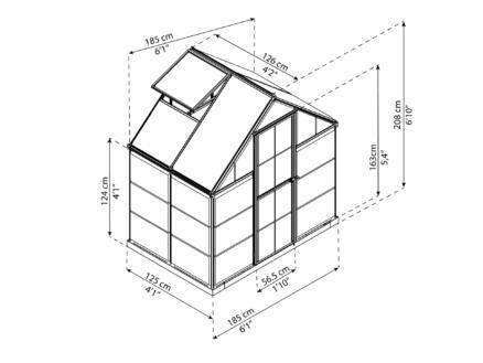 Palram Harmony serre 185x126x208 cm polycarbonaat
