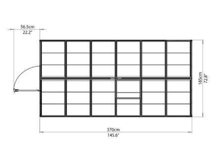 Palram Harmony serre 185x370x208 cm polycarbonaat