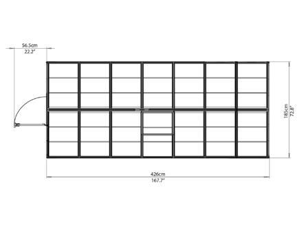 Palram Harmony serre 185x426x208 cm polycarbonate