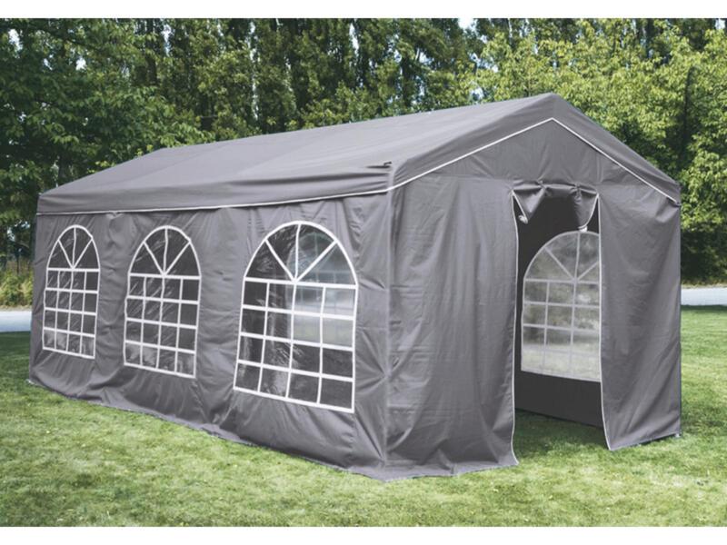 Garden Plus Heavy Luxe partytent 600x400 cm grijs