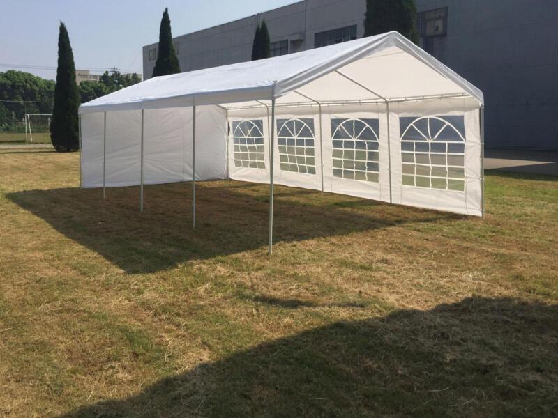 Garden Plus Heavy tonnelle chapiteau  800x400 cm + parois latérales blanc