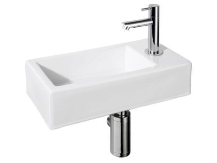 Differnz Helios lave-mains 36x18 cm robinet compris blanc