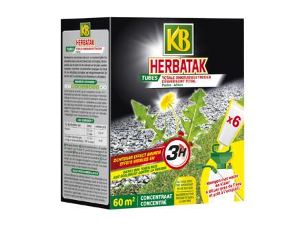 Kb Herbatak désherbant allées 6 tubes