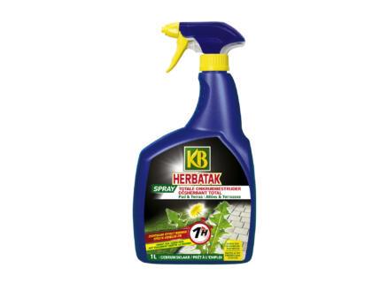 Herbatak spray désherbant alleés et terrasses formule totale 1l