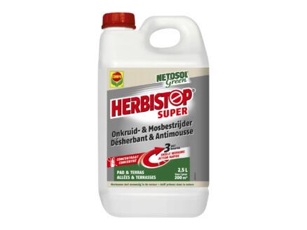 Compo Herbistop Super désherbant & antimousse allées et terrasses 2,5l