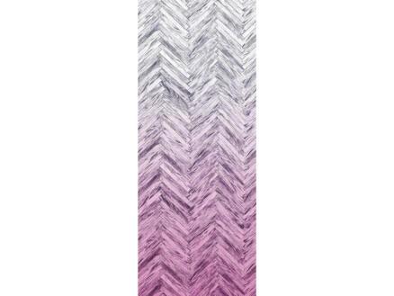 Herringbone Pink Panel digitaal fotobehang vlies