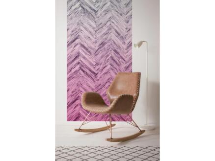 Herringbone Pink Panel intissé photo numérique