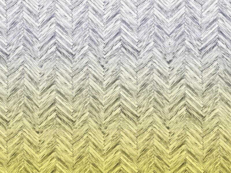 Herringbone Yellow digitaal fotobehang vlies 4 stroken