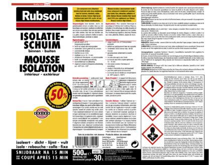 Rubson High Speed isolatieschuim 500ml
