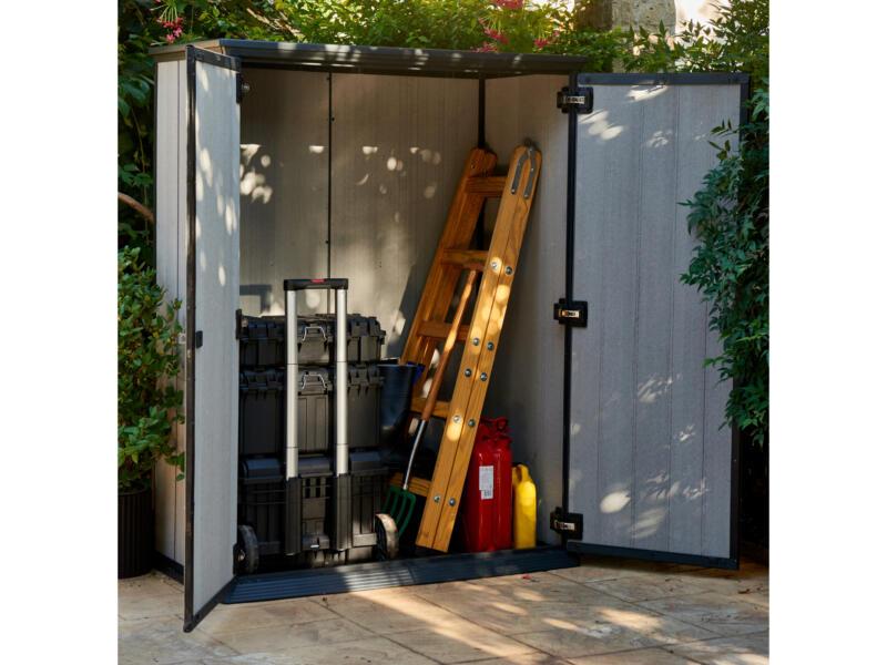Keter High Store armoire de jardin 140x77x182 cm gris