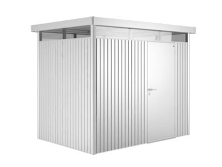 Biohort HighLine H1 abri de jardin 275x155x222 cm métal argent métallique