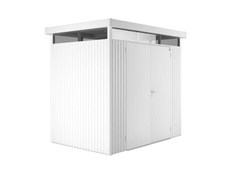 Biohort HighLine H1 abri de jardin 275x155x222 cm métal porte double blanc