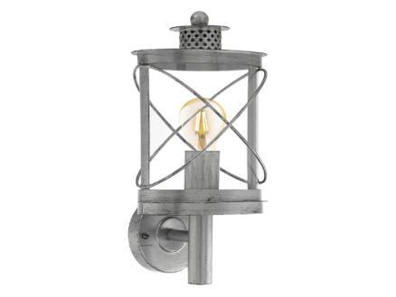 Eglo Hilburn 1 wandlamp E27 m60W antiek zilver