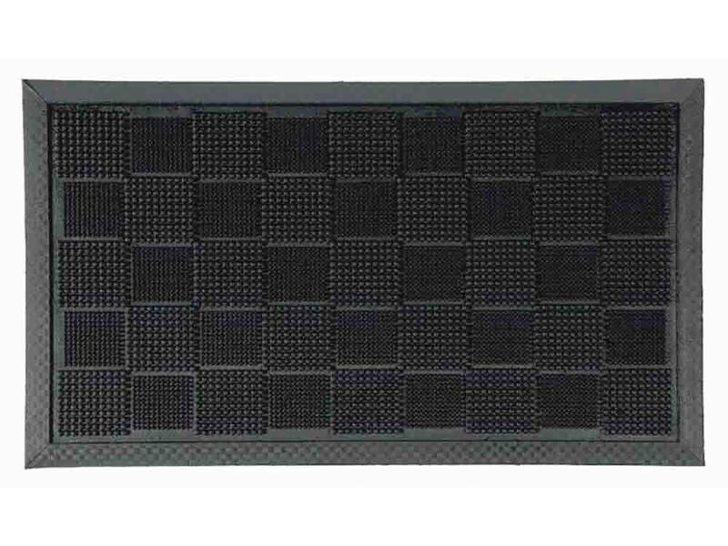 Coryl Hilo paillasson en caoutchouc 40x70 cm noir