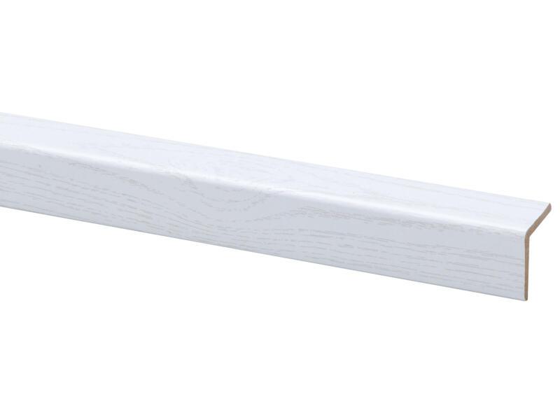 Hoeklat 27x27 mm 260cm witte es