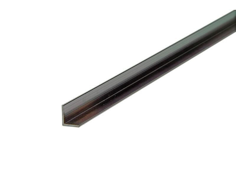 Arcansas Hoekprofiel 1m 10x10 mm geanodiseerd aluminium blinkend