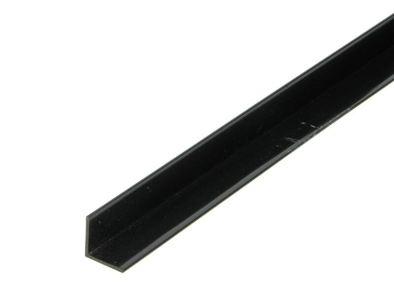 Arcansas Hoekprofiel 1m 15x15 mm PVC zwart