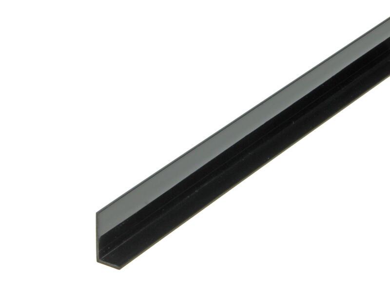 Arcansas Hoekprofiel 1m 20x10 mm PVC zwart