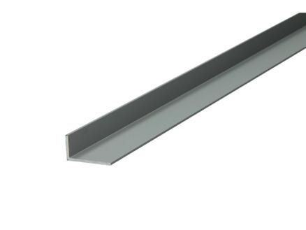 Arcansas Hoekprofiel 1m 20x10 mm geanodiseerd aluminium mat