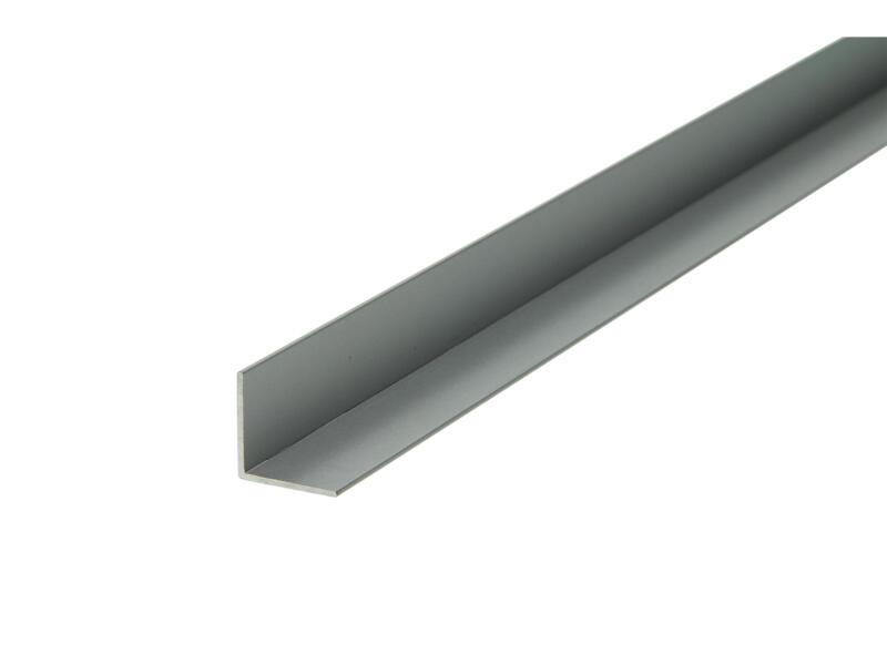 Arcansas Hoekprofiel 1m 20x20 mm geanodiseerd aluminium