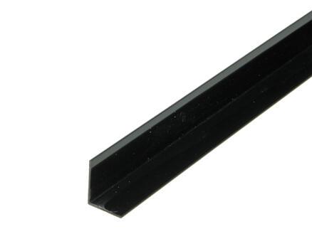 Arcansas Hoekprofiel 1m 25x20 mm PVC zwart