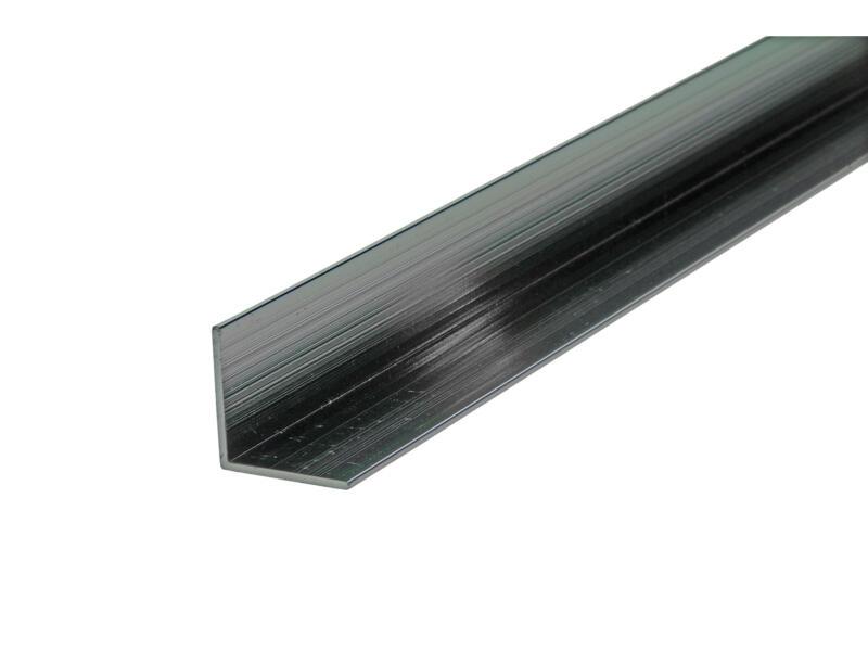 Arcansas Hoekprofiel 2m 20x20 mm geanodiseerd aluminium blinkend