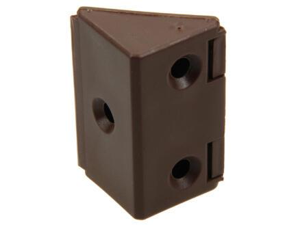 Hoekverbinder breed bruin 4 stuks