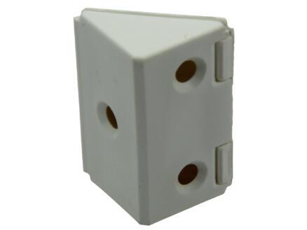 Hoekverbinder breed wit 4 stuks