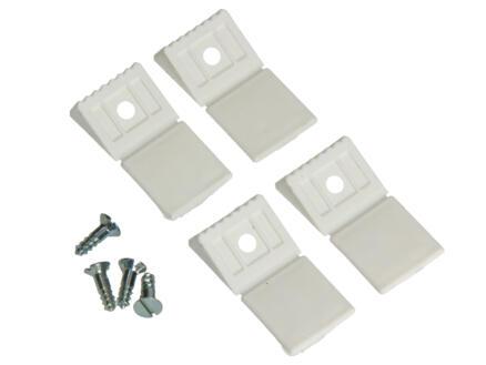 Hoekverbinder mini wit 4 stuks
