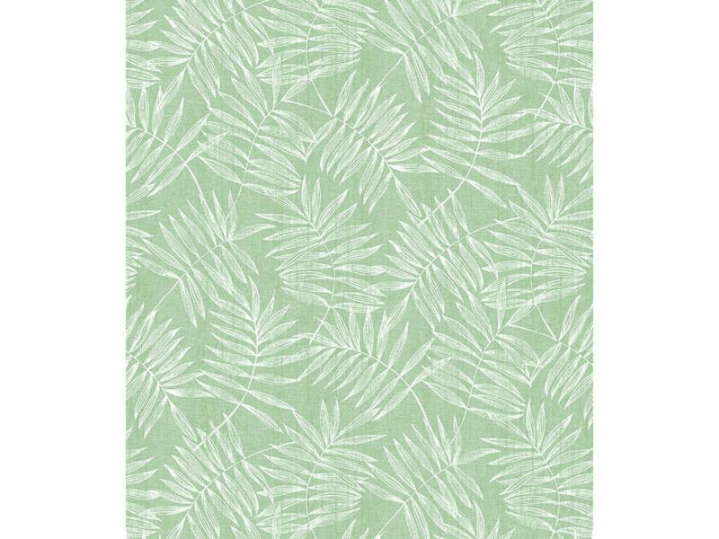 Finesse Hojas tafellaken 140cm groen per lopende meter