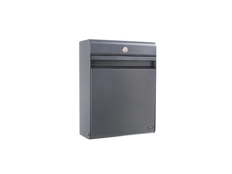 Allux Holscher brievenbus gegalvaniseerd staal antraciet