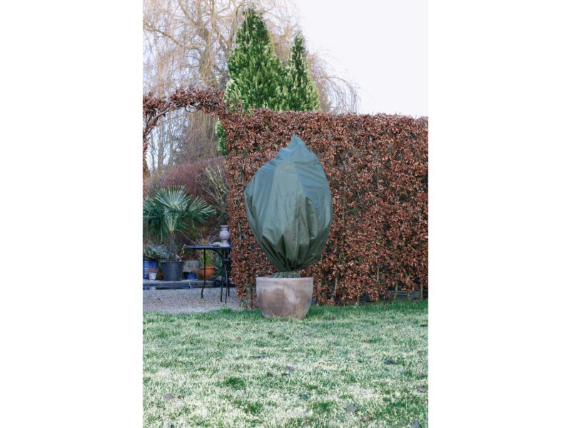Housse d'hivernage 1,5x0,75 m vert 2 pièces