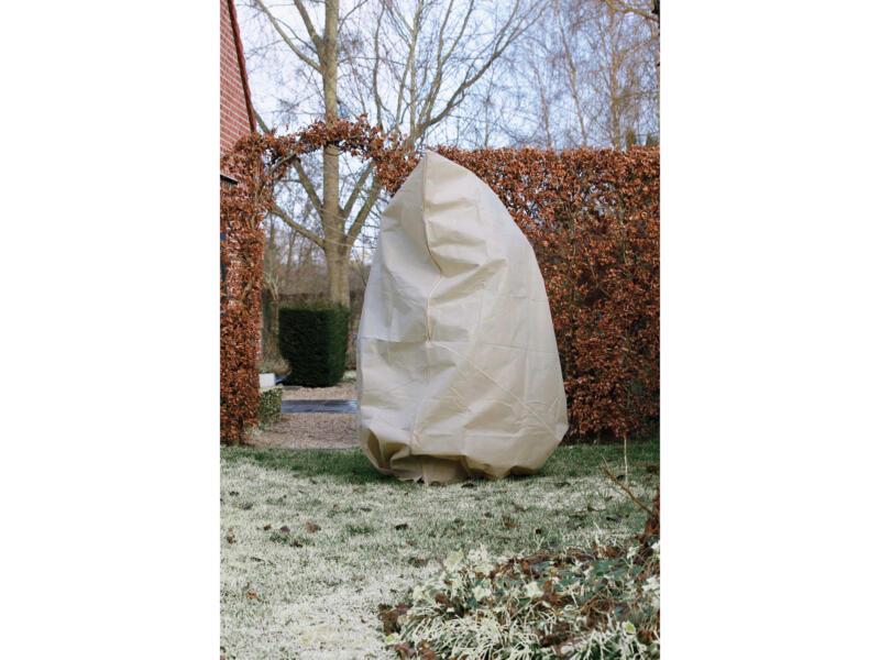 Housse d'hivernage avec zip 3x2,5 m beige
