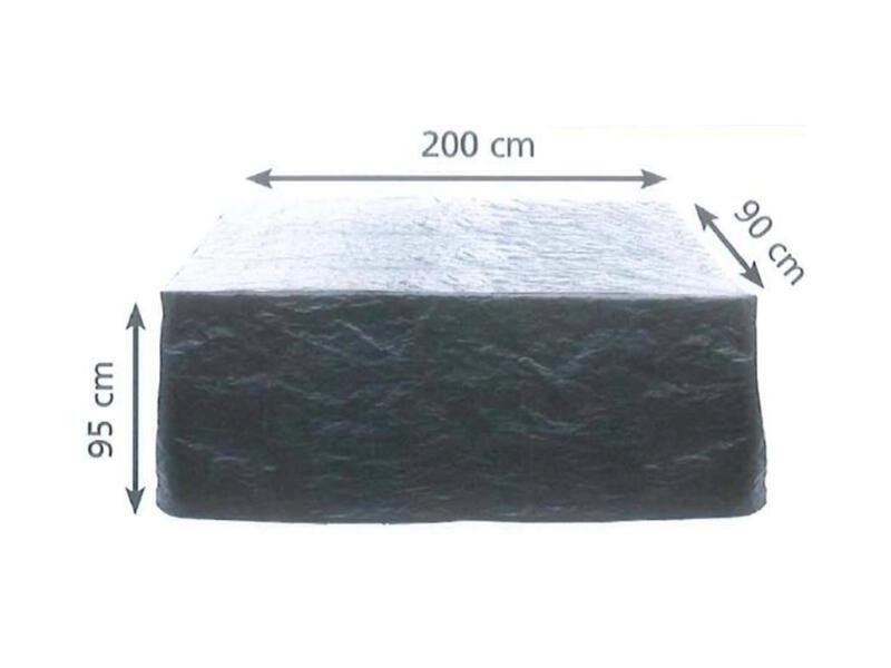 Housse pour canapé lounge 2 places 200x90x95 cm vert