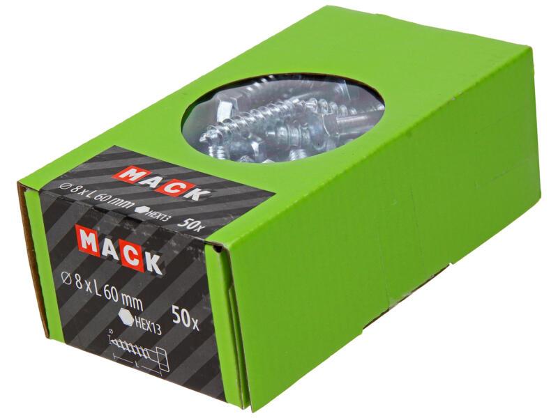 Mack Houtdraadbout 8x60 mm verzinkt 50 stuks
