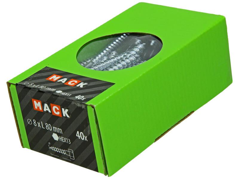 Mack Houtdraadbout 8x80 mm verzinkt 40 stuks