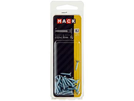 Mack Houtschroeven 16x3,5 mm verzinkt 27 stuks