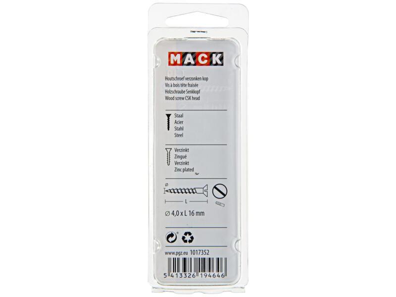 Mack Houtschroeven 16x4 mm verzinkt 24 stuks